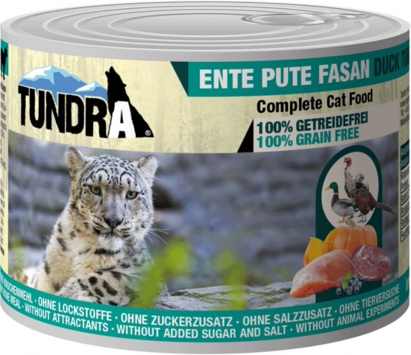 Tundra, cat food, duck + turkey + pheasant, grain free, taurine