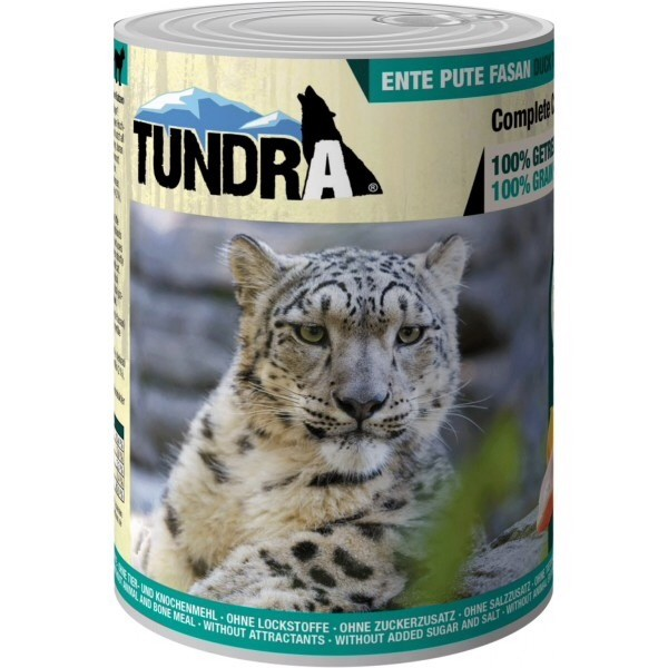 Tundra, cat food, duck turkey and pheasant,
