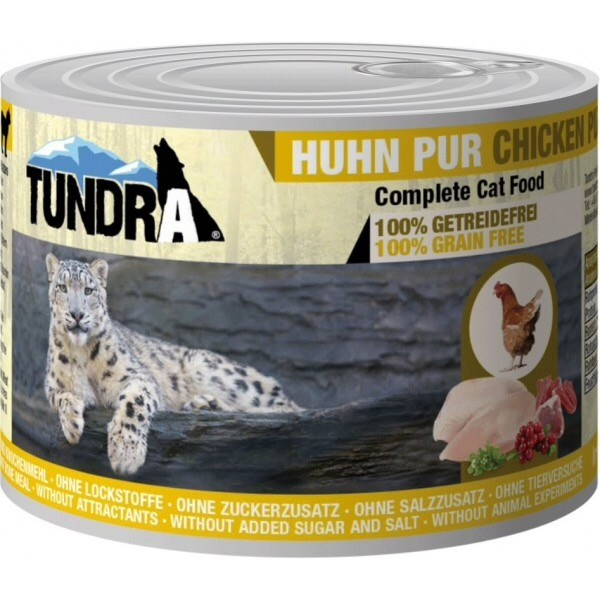 Tundra chicken, cat food, taurine