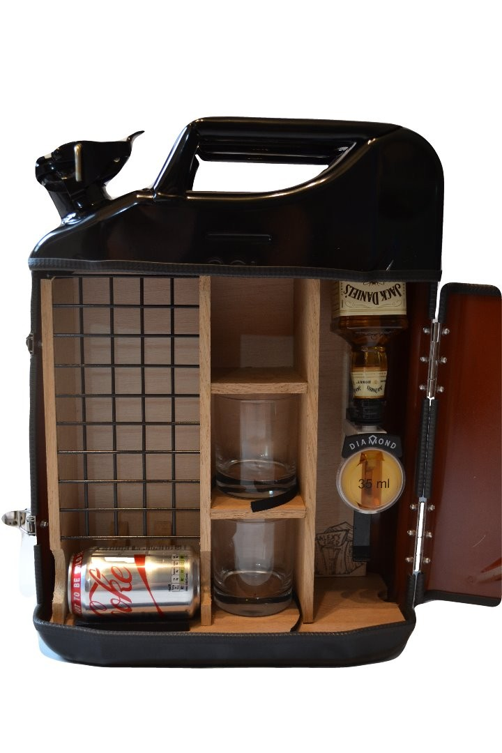 Jerry can bar black alex 39 s shed - Picture of bar ...