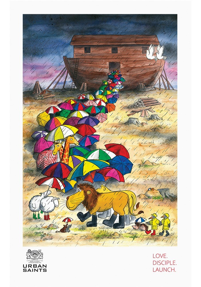 Noah's Ark Tea Towel
