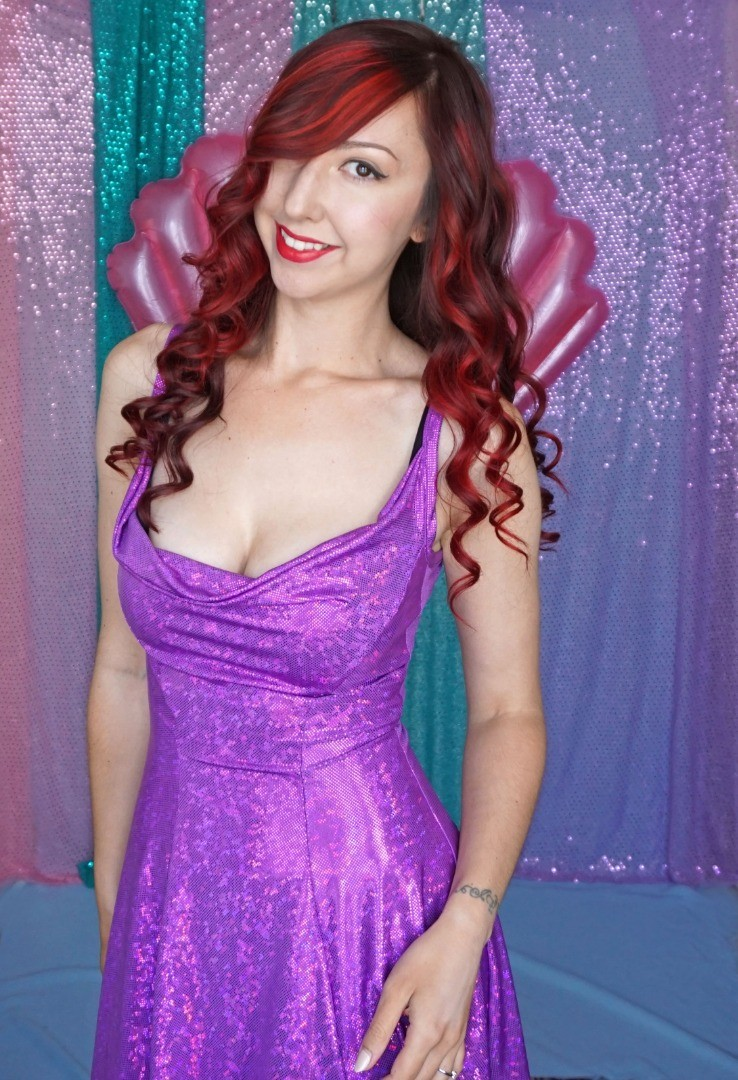 Ariel Purple Sparkly Dress