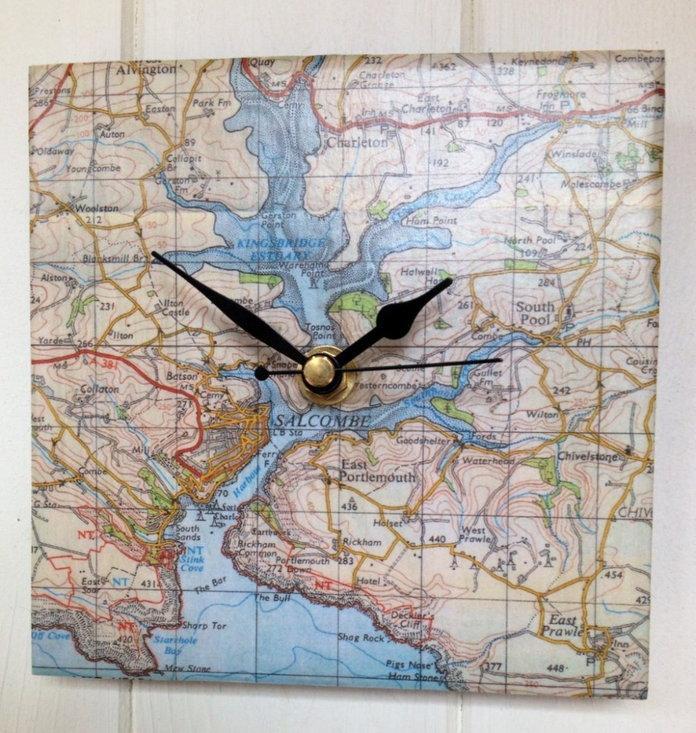 Torquay map clock