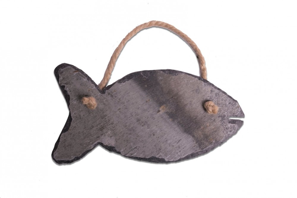 Cornish slate fish hanging