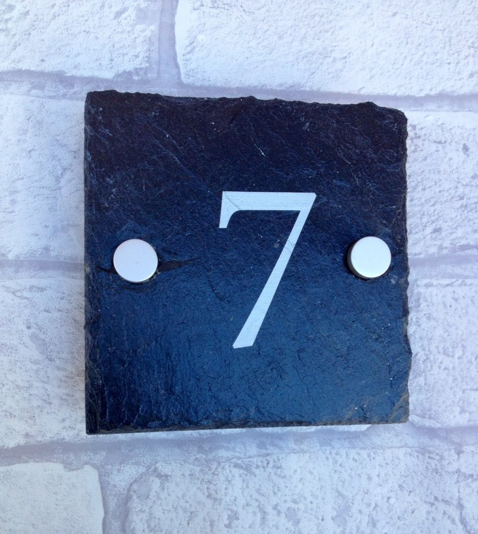 Personalised Slate house numbers
