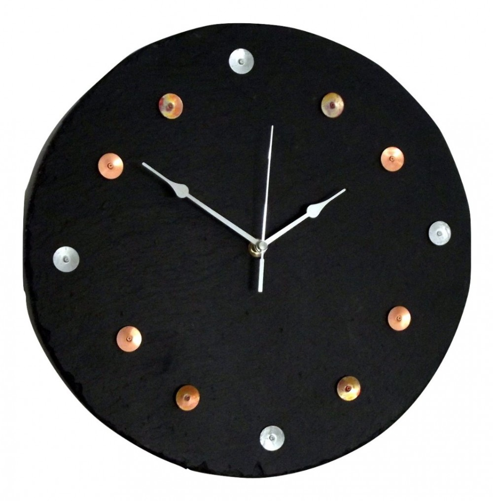 Slate and copper dial clock