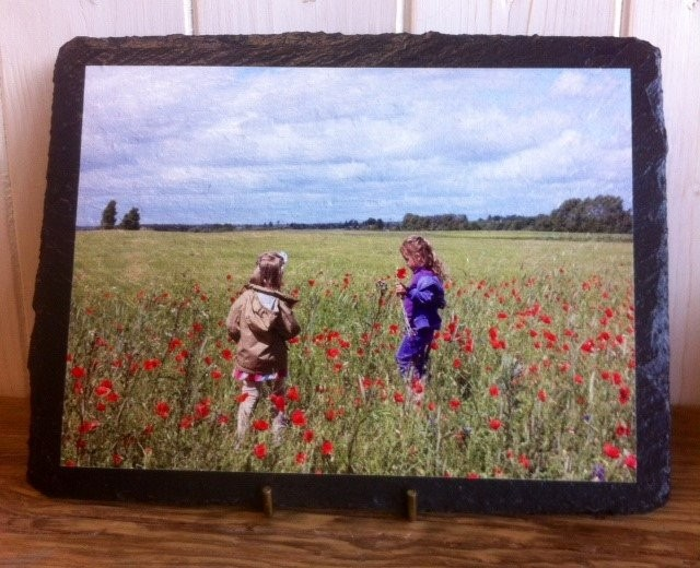 Photo printed onto slate