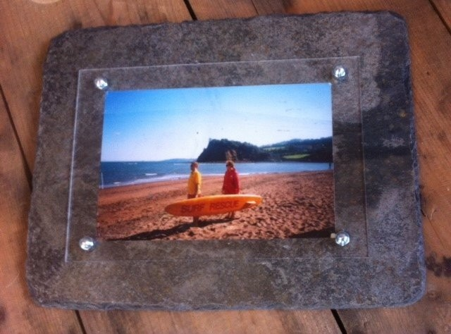Cornish slate picture frame