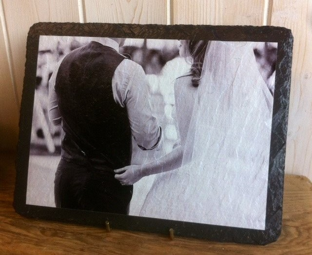 Personalised slate photo
