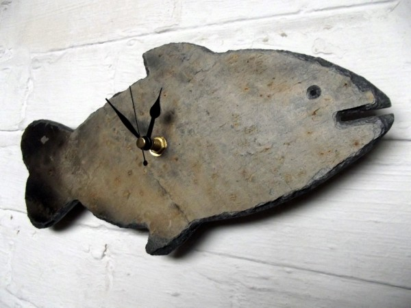 Cornish slate fish clock