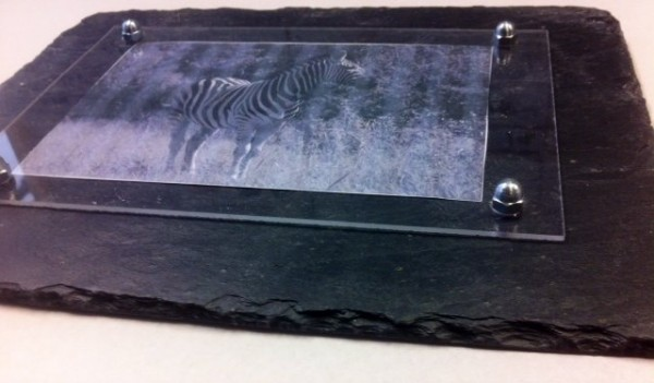 Slate picture frame 4x6
