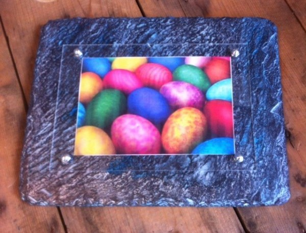 Ocean wave slate picture frame 4x6