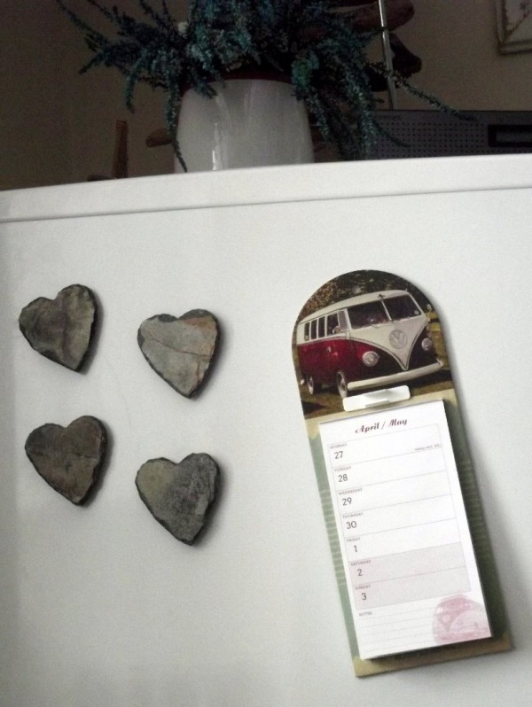 Cornish slate heart magnets
