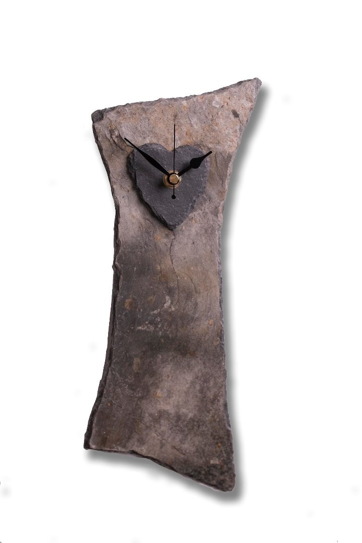 Cornish slate quirky clock
