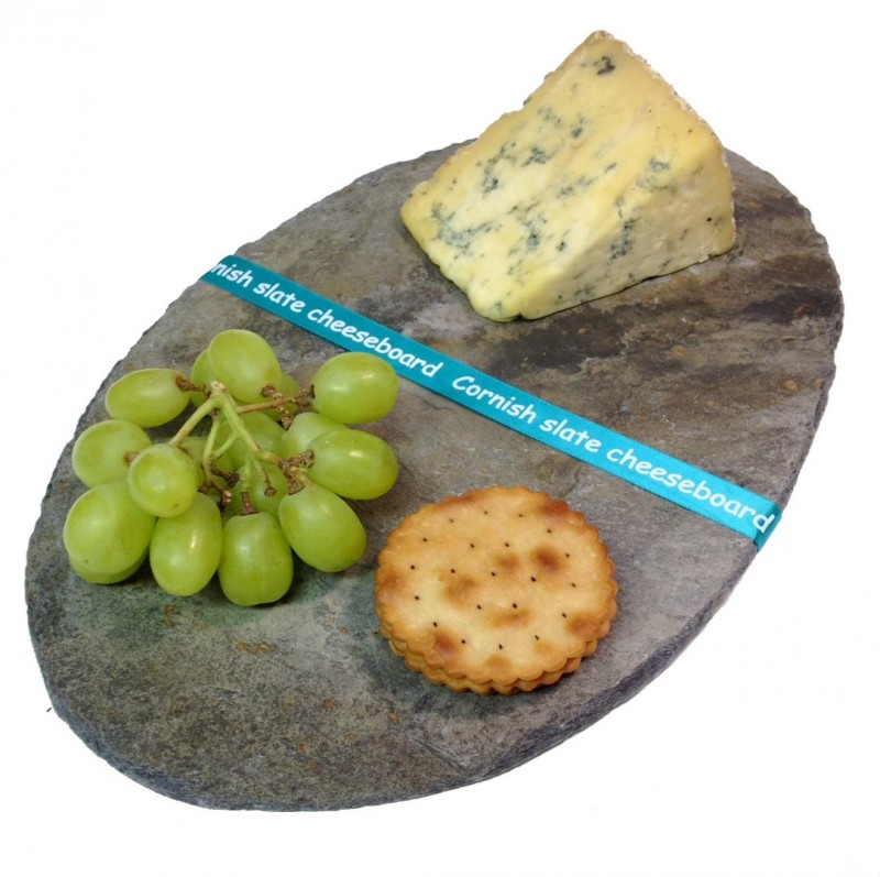 Cornish slate oval cheeseboard