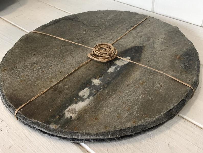 Cornish slate round placemats