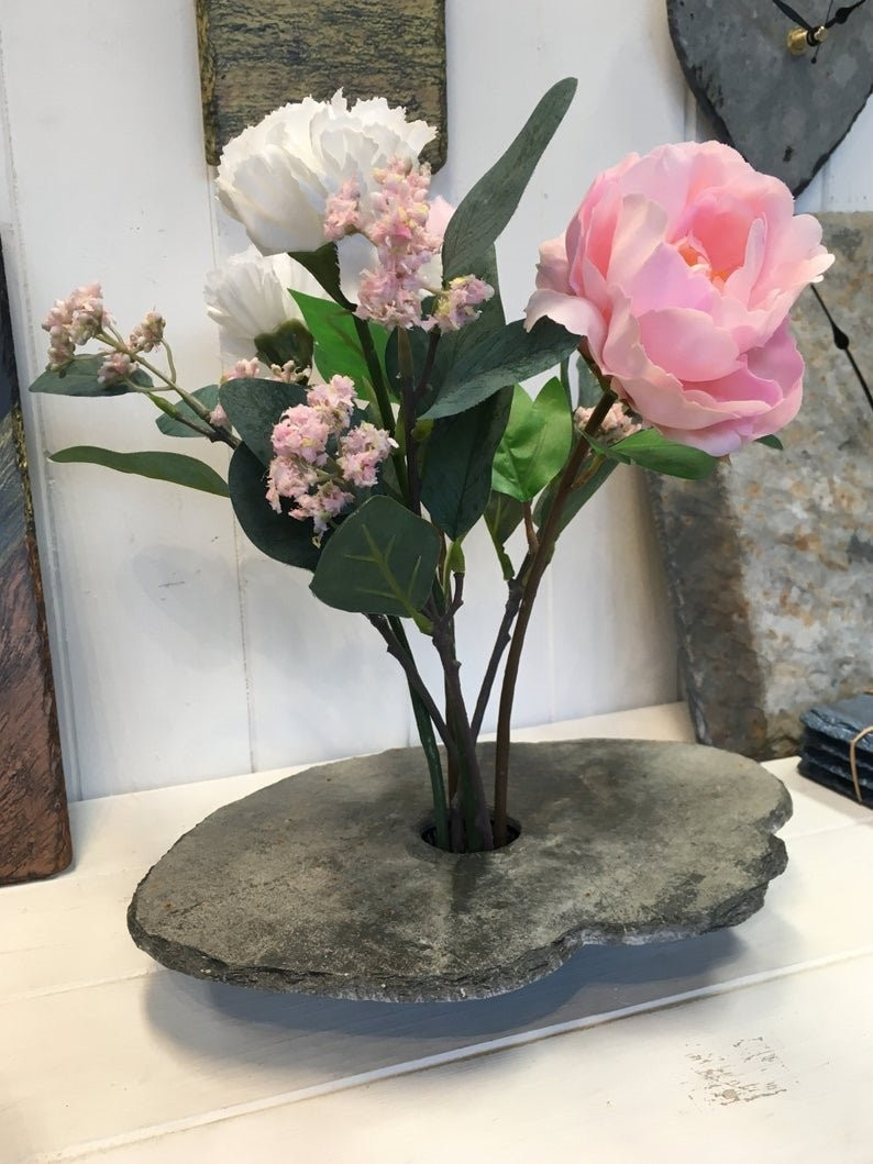 Cornish slate Ikebana vase